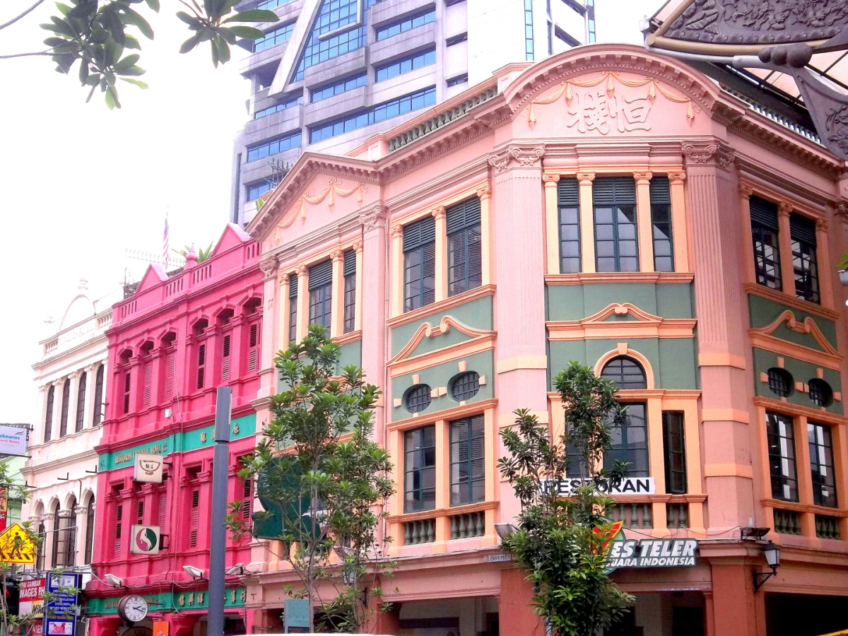 Near Central Market Plaza - Cheerfully Painted Historic Buildings