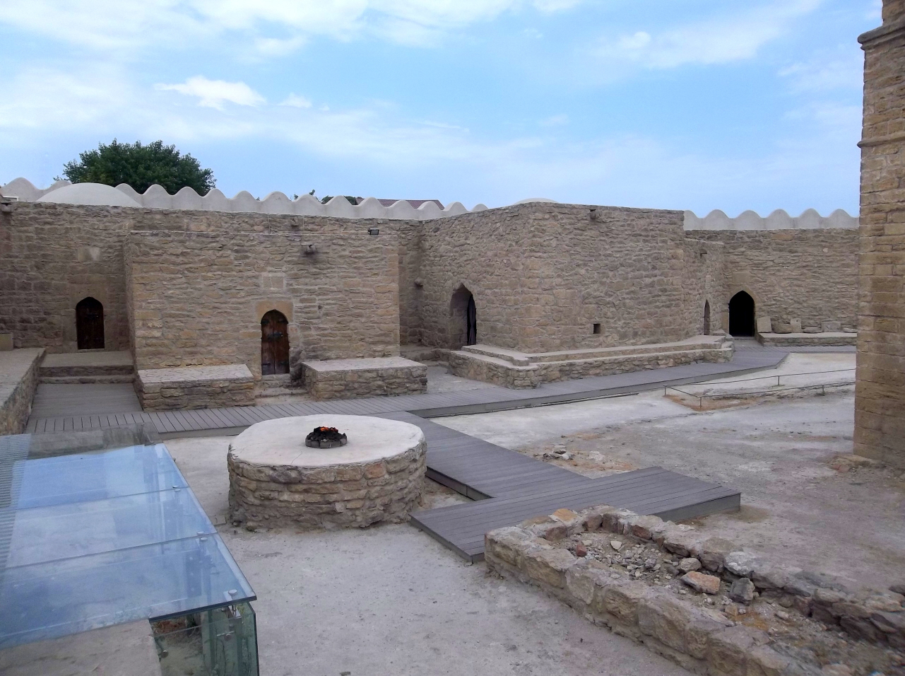 Ateshgah Fire Temple Fires Came from Natural Gas Below the Ground - Zoroasrian (7th-10th Cen)  (Hindu 18th Cen.) - Azerbaijan