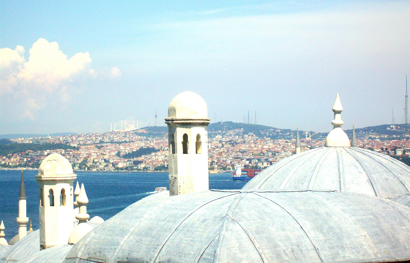View from the back of Suleymaniye Mosque - Istanbul, Turkey